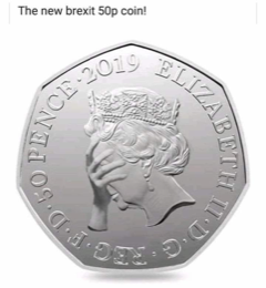The new brexit 50p coin